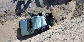 Bartın Çakraz karayolu İnpiri köyü kavşağında meydana gelen feci kazada kontrolden çıkan bir otomobil duvara çarptı.